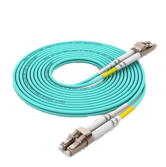 海乐Haile 万兆多模光纤跳线(ST-ST,OM3-300,UPC接头)50米,HJ-2ST-ST-MT50
