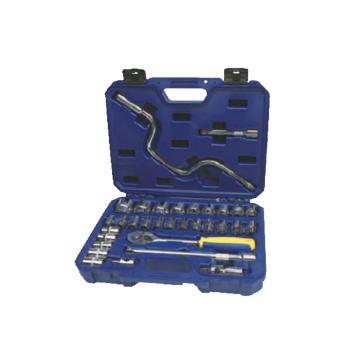 长城精工Greatwall 32pcs公制套筒组合工具,32pcs,407032