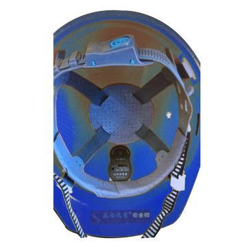 日月星 近电报警安全帽,3档位,35KV,蓝色