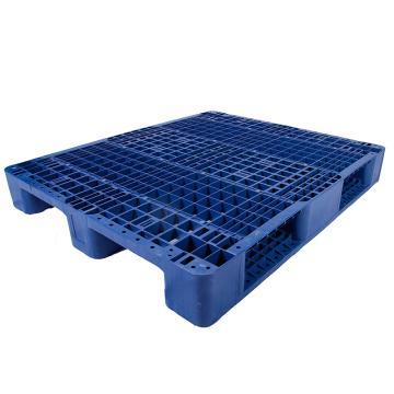 西域推荐 川字网格托盘(8根钢管),改性HDPE,1200*1000*150mm,静载5T,动载1.2T,货架载1T,蓝色