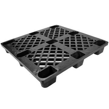 西域推荐 九脚网格托盘,改性HDPE,1100*1100*150mm,静载1T,动载0.4T,TK1111JW-C,黑色