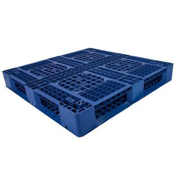 西域推荐 田字网格托盘,改性HDPE,1100*1100*150mm,静载4T,动载1T,TK1111TW-A,蓝色