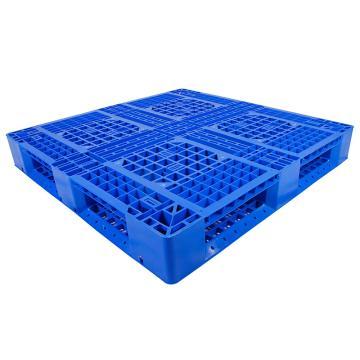 西域推荐 田字网格托盘(8根钢管),新料HDPE,1100*1100*150mm,静载6T,动载1.5T,TK1111TW-B8,蓝色