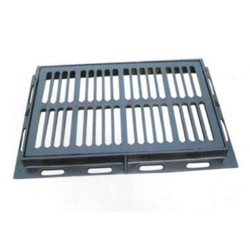 8113820西域推荐 铸铁排水篦子带外框 可定制,外框850×510mm 篦子765×465mm