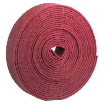8113820精冠研磨 超细纤维金刚砂工业百洁布,90mm*8m 红色