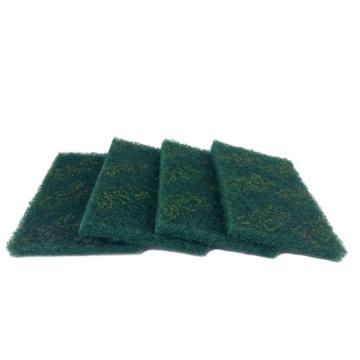 8113820精冠研磨 工业百洁布 5*8英寸 绿色,5*8英寸 绿色