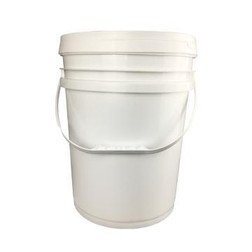 安赛瑞 广口塑料桶(20L),带盖化工桶,圆形PP,工业涂料油漆化工密封包装塑料桶