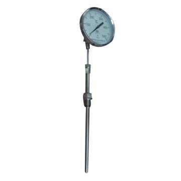 科威弘达 不锈钢万向型双金属温度计(带保护套管式),WSS-481F-230 M27*2