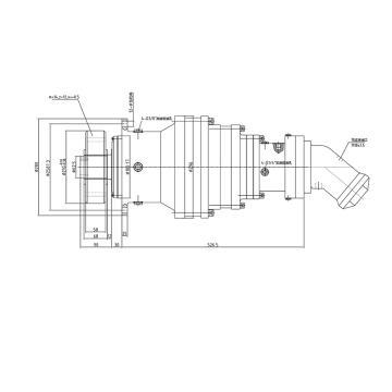 东裕 吊车回转液压马达减速器总成,1023-A2F
