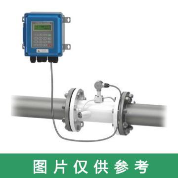 道盛 小壁挂分体管段式超声波流量计,TUF-2000B-DN65(PN16) 碳钢 法兰连接 -40~160℃ 10m线