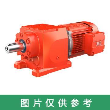 杰牌传动JIE JRT齿轮减速电机,规格97,速比27.58,JRTR97DS132M4/27.58/M1/0°/7.5kW