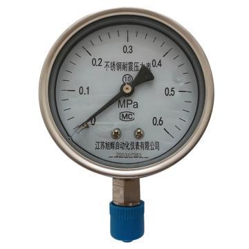 旭仪 不锈钢耐震压力表,Y-150BF/Z/M20*1.5