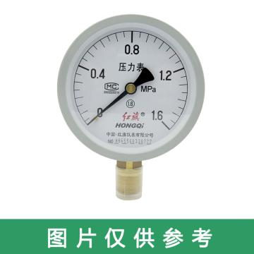 红旗 压力表,Y-150 碳钢+铜 径向不带边 M20×1.5 0~2.5MPa