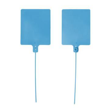 安赛瑞 物流大吊牌,物流挂签,封条封签扎带(100根装)蓝色