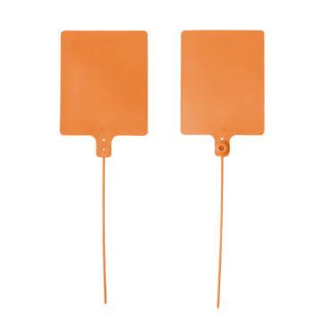 安赛瑞 物流大吊牌,物流挂签,封条封签扎带(100根装)橙色