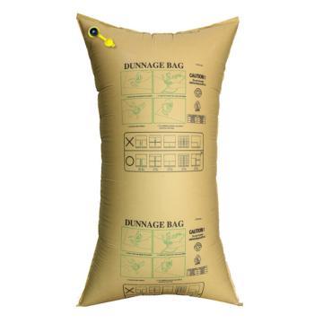 安赛瑞 集装箱货柜防撞缓冲充气袋,填充牛皮纸袋,黄色,尺寸:50×100cm,单位:个