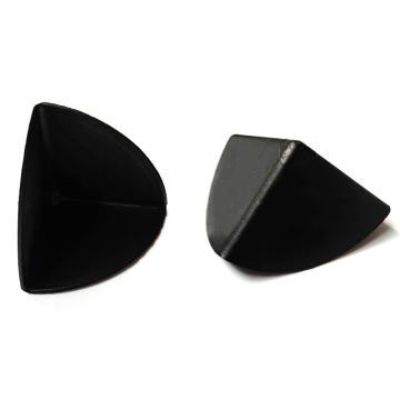 安赛瑞 三面塑料护角包角,防碰撞塑料护角,黑色,尺寸:35×35×35mm(200个装)