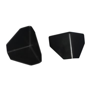 安赛瑞 三面塑料护角包角,防碰撞塑料护角,黑色,尺寸:60×60×60mm(200个装)