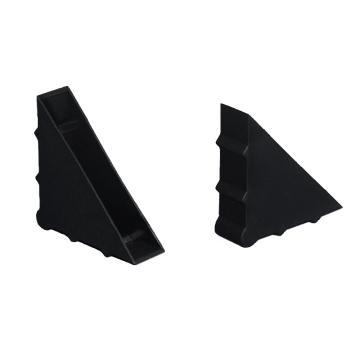 安赛瑞 三角形塑料护角包角,防碰撞塑料护角,黑色,尺寸:50×50×12mm(200个装)