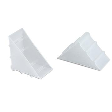 安赛瑞 三角形塑料护角包角,防碰撞塑料护角,白色,尺寸:50×50×22mm(200个装)