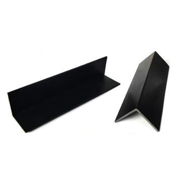 安赛瑞 L型塑料护角条,防撞塑料护边包角,黑色,尺寸:45×45×1000mm(30根装)