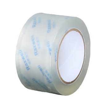 Raxwell BOPP超透封箱胶带,优质无气泡,宽*长*厚(mm*m*mm):48*100*0.05,单位:卷,60卷/箱
