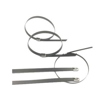 上海博诚 包塑不锈钢扎带,9×400