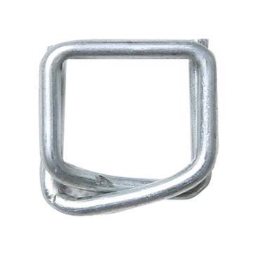 西域推荐 钢丝打包扣,回形扣,纤维带用,宽度:19mm,TB6(19mm),500个/箱