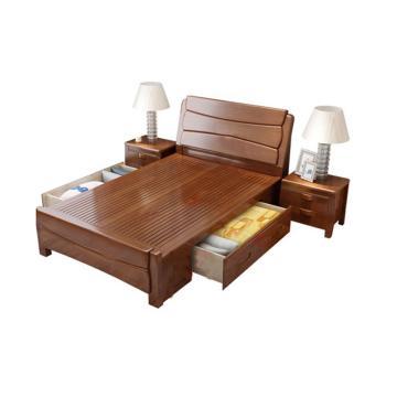 西域推荐 实木床,箱框式 1.2m*2m,仅限黑龙江吉林辽宁