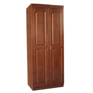 西域推荐 实木衣柜,两门 长78*宽55*高195cm,仅限黑龙江吉林辽宁