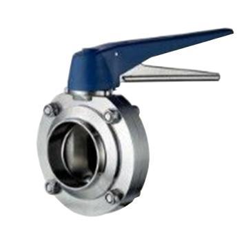 """齐力流体 卫生级不锈钢鸭嘴式蝶阀,2.5"""",SS316L,焊接,SMS标准"""