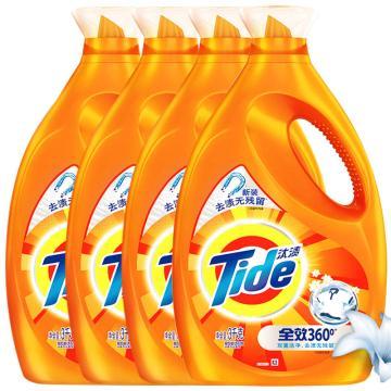 汰渍 Tide 洁净除菌洗衣液(洁雅百合香),3kg*4,新旧香型随机发货