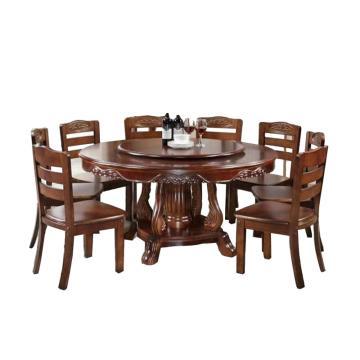 餐桌,直径1.8米带转盘的圆桌