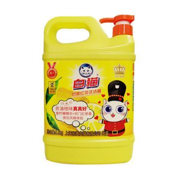 白猫 柠檬红茶洗洁精(英伦版),1.5kg 单位:桶