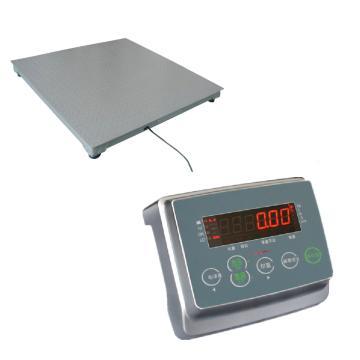 杰特沃 地磅,电子平台秤,量程1T,0.2kg,台面尺寸:1M*1M,工业灰