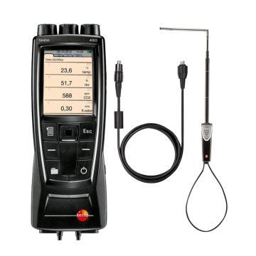德图/testo 480多功能测量仪配热线式风速探头套装,0563 4800+0635 1543+0430 0100