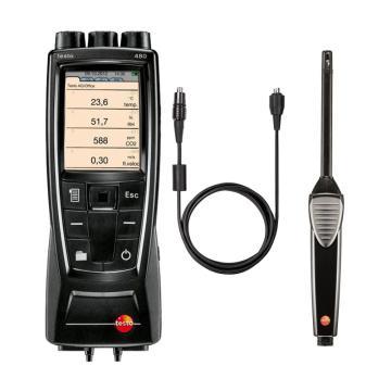 德图/testo 480多功能测量仪配温湿度探头套装,0563 4800+0636 9743+0430 0100