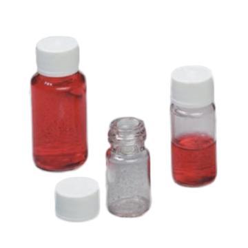 Nalgene 无菌,诊断瓶,聚对苯二酸乙二醇酯共聚物,带白色压线高密度聚乙烯盖,10毫升容量,每箱500,1箱