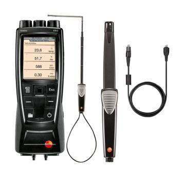 德图/testo 480多功能测量仪配风速和空气质量探头套装,0563 4800+0635 1543+0430 0100+0632 1543