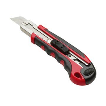 力易得 美工刀,重型双色塑柄 18mm,E7017