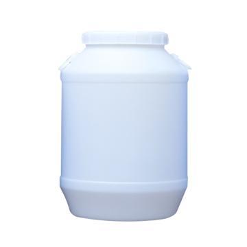西域推荐 白色塑料圆桶,50L,尺寸:410×610mm