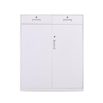 臻远 文件柜,办公柜拆装窄边柜纯白色加厚款 二斗下节矮柜,900*400*1090mm