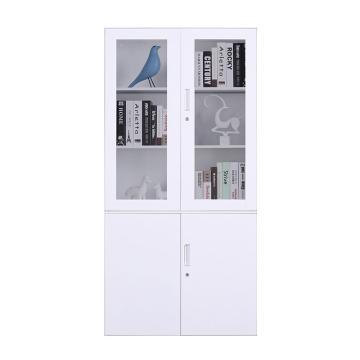臻远 文件柜,办公柜拆装窄边柜纯白色加厚款 大器械,900*400*1850mm
