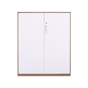 臻远 文件柜,办公柜拆装窄边柜咖白色加厚款 1090对开铁柜,长900*宽400*高1090mm