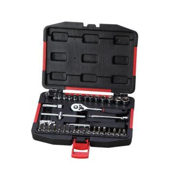力易得 汽保工具套装,6.3mm系列38件套, E1232