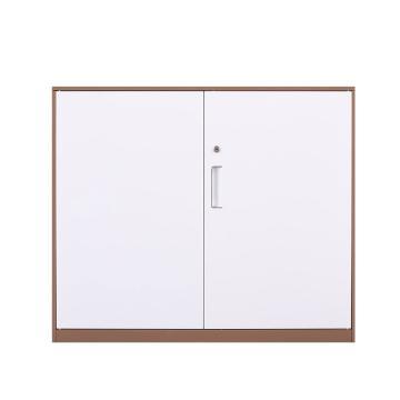 臻远 文件柜,办公柜拆装窄边柜咖白色加厚款 760对开铁柜,长900*宽400*高760mm