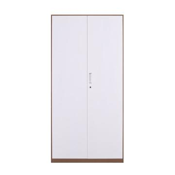 臻远 文件柜,办公柜拆装窄边柜咖白色加厚款 铁门对开,长900*宽400*高1850mm