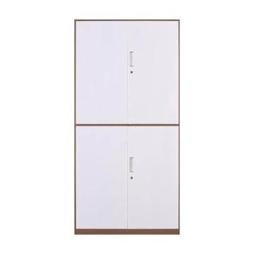 臻远 文件柜,办公柜拆装窄边柜咖白色加厚款 通双节,长900*宽400*高1850mm