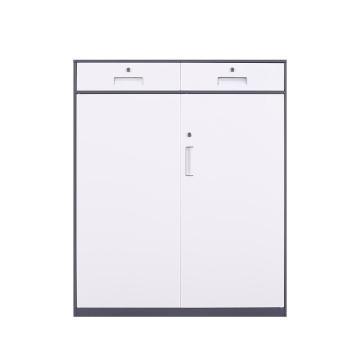 臻远 文件柜,办公柜拆装窄边柜灰白色加厚款 二斗下节矮柜,长1090*宽400*高1090mm