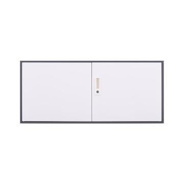 臻远 文件柜,办公柜拆装窄边柜灰白色加厚款 单节顶柜,长900*宽400*高400mm